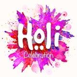 Stylish text for Holi Festival celebration. Royalty Free Stock Photography