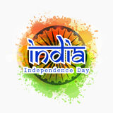 Stylish text for Indian Independence Day celebration. Stock Images