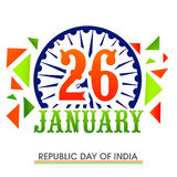 Stylish text for Indian Republic Day celebration. Stock Photo