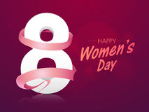 Stylish text 8 March for Women's Day. Royalty Free Stock Images