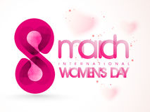 Stylish text 8 March for Women's Day. Stock Image
