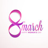 Stylish text 8 March for Women's Day. Royalty Free Stock Image