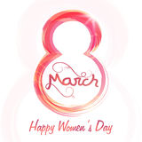Stylish text 8 March for Women's Day. Royalty Free Stock Photography