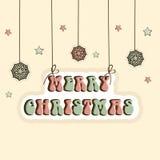 Stylish text for Merry Christmas celebration. Royalty Free Stock Photos