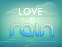 Stylish text for Monsoon Season. Royalty Free Stock Image
