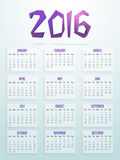 Stylish text 2016 for New Year celebration. Royalty Free Stock Image