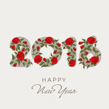 Stylish text 2016 for New Year celebration. Royalty Free Stock Images