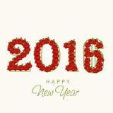 Stylish text 2016 for New Year celebration. Royalty Free Stock Photography