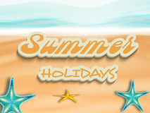 Stylish text of Summer Holidays. Royalty Free Stock Images