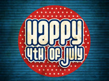 Stylish text for 4th of July celebration. Royalty Free Stock Photo
