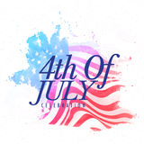 Stylish text for 4th of July celebration. Stock Photos