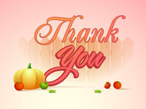 Stylish text for Thanksgiving Day celebration. Stock Image