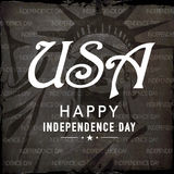 Stylish text USA for American Independence Day celebration. Stock Photo