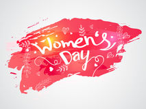 Stylish text for Women's Day celebration. Stylish text Women's Day on creative abstract background Stock Photography