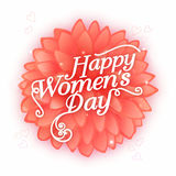 Stylish text for Women's Day celebration. Stock Image