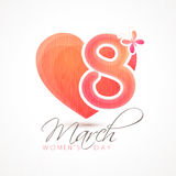 Stylish text for Women's Day celebration. Stock Photography