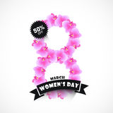 Stylish text for Women's Day celebration. Royalty Free Stock Photos