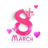 Stylish text for Women's Day celebration. Stock Image