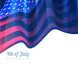 Stylish 4th of july background. Design vector illustration