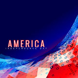 Stylish 4th of july design Stock Photos