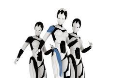 Stylish three robots Stock Photography