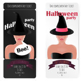 Stylish ticket to the party of Halloween, Stock Photography