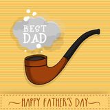 Stylish tobacco pipe for Fathers Day celebration. Royalty Free Stock Photos