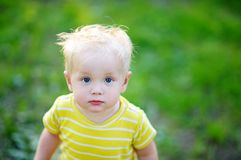 Stylish toddler boy Royalty Free Stock Image