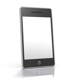 Stylish touch screen smart phone device. 3D rendered image of generic touch screen mobile phone device Royalty Free Stock Photo