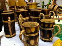 Traditional bamboo Cup stock photography