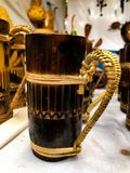 Traditional bamboo Cup stock images