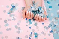 Stylish trendy female manicure Royalty Free Stock Photography