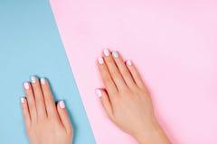 Stylish trendy female manicure Royalty Free Stock Images
