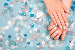 Stylish trendy female manicure Stock Photos