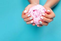 Stylish trendy female manicure Royalty Free Stock Image