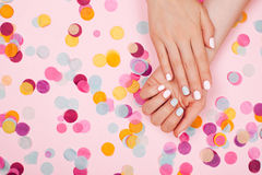 Stylish trendy female manicure Stock Image