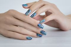 Stylish trendy female manicure royalty free stock photography