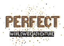 Stylish trendy slogan perfect-shirt graphics print illustration. Perfect design text royalty free illustration