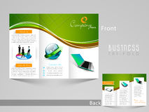 Stylish tri fold template, brochure or flyer design. Stock Photography