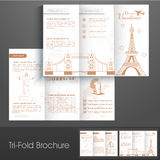 Stylish trifold brochure, catalog and flyer for holidays vacation. Royalty Free Stock Photography