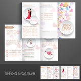 Stylish trifold brochure, catalog and flyer template. Stock Photos