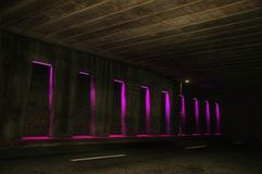 Stylish Tripping. Tunnel Bright Colors Pink Purple Royalty Free Stock Photography