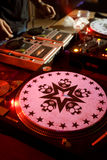Stylish turntable at the party Royalty Free Stock Images