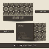 Stylish two sided business or visiting card design. Stock Photography