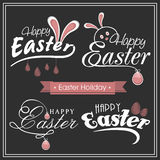Stylish typographic collection for Easter celebration. Stylish typographic collection with eggs for Happy Easter celebration Royalty Free Stock Photos
