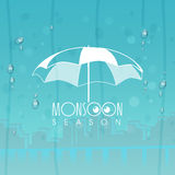 Stylish umbrella for Monsoon season. Stock Image