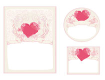 Stylish valentine cards collection Royalty Free Stock Photography