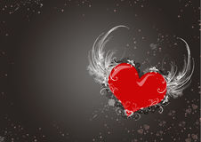 Stylish Valentine's Day card Stock Image