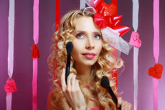 Stylish valentine woman Stock Photography