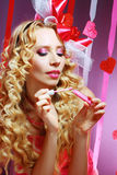 Stylish valentine woman Royalty Free Stock Photography